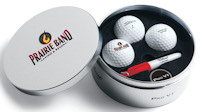 Titleist 3 Ball Tin with Logo on Tin