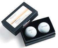 Titleist 2 Ball Business Card