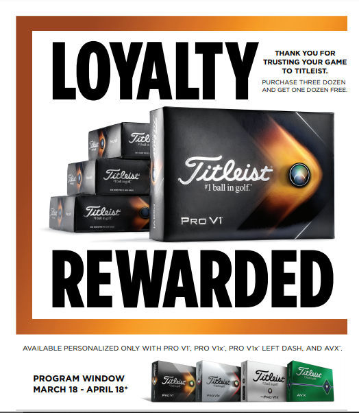 Titleist Buy 3 Dozen and Get 1 Dozen Free