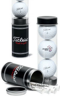Titleist Tour Soft 3-Ball Tube with Stock Tees